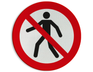 Verbodsbord P004 - Verboden voor voetgangers