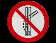 Pictogram P037 - Het sleepspoor niet verlaten