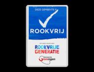 Rookvrij terrein - Informatiebord - Op weg naar een Rookvrije generatie - met logo