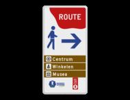 Routebord 1:2 - in Huisstijl gemeente Hattem - Bewegwijzering