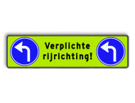 Routebord parkeergarage 1240x340mm - verplichte rijrichting