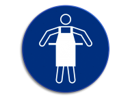 Veiligheidspictogram - Schort dragen verplicht M026