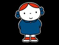 Dick Bruna - Silhouetbord meisje met blauwe jurk