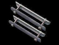 Beugelset spijlen- / gaashek staal (set 2 stuks)