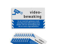 Video- camerabewaking - Raamstickers Reflecterend ( 10 stuks ) - BP06