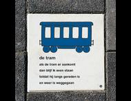 Dick Bruna Stoeptegel - de tram - 300x300mm