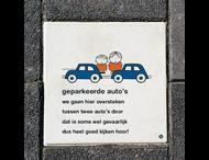 Dick Bruna Stoeptegel - geparkeerde autos - 300x300mm