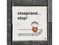 Dick Bruna Stoeptegel - stoeprand... stop - 300x300mm