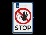 Entreebord STOP-BORD Defensie - P000