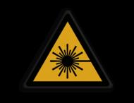 Veiligheidspictogram - Pas Op! Laserstraal - W004