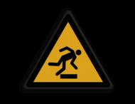 Veiligheidspictogram - Struikelgevaar - W007