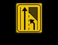 Verkeersbord WIU geel/zwart T32-2l