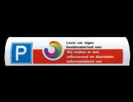 Parkeerbord voor biggenrug 600x200mm (eigen ontwerp)