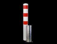 Afzet-, rampaal (SH2) Ø152x2.000 mm hoog - wit/rood - zelf te verzwaren met beton
