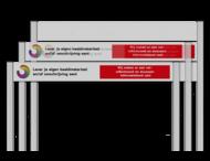 Portaalsysteem TS10 met 200mm panelen + aluminium geborstelde staanders