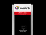 Portaalsysteem TS met informatiebord 3:2 met aluminium geborstelde staanders