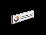 Informatiebord kokerprofiel reflecterend + uw eigen opdruk