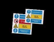 Veiligheidsbord VLAK - Aluminium vol reflecterend
