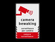 Verkeersbord camerabewaking - 3 talen