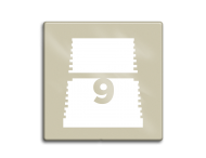 Niveaubord 118x118cm perlbeige | white