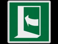 Veiligheidspictogram - Vluchtdeur links open draaiend - E023