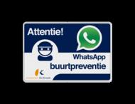 WhatsApp Buurtpreventie Informatiebord + Logo / Beeldmerk - L209wa