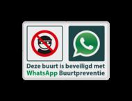 WhatsApp Attentie Buurtpreventie Informatiebord 04 - L209wa