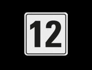 Huisnummerbord (LOS)  wit/zwart - reflecterend klasse 3