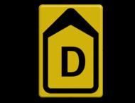 Verkeersbord WIU T201b FLUOR geel/zwart