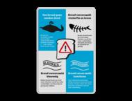 Informatiebord - Van brood gaan eenden dood - Model 03 - Vissen
