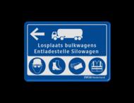 Routebord Bulktransport blauw/wit VEILIGHEIDSBORDEN