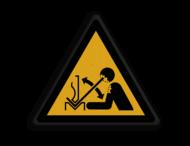 Veiligheidspictogram - Zetbank opletten - W032