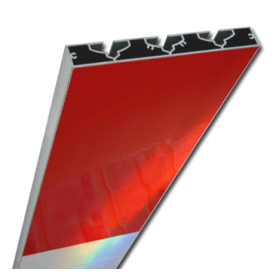 Schrikhekplank 2000mm lang VERZWAARD blokmotief. RVV BB16-1