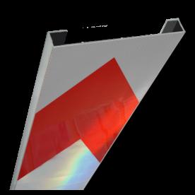 Schrikhekplank 5000mm lang C-profiel pijlmotief. RVV BB18-1