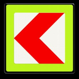 Verkeersbord RVV BB12lf - fluor rand