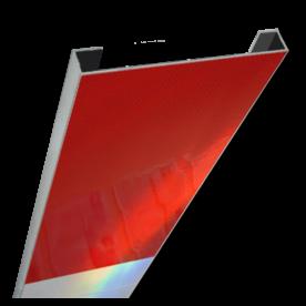 Schrikhekplank 1000mm lang C-profiel blokmotief.