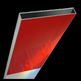 Schrikhekplank 6000mm lang kokerprofiel blokmotief. RVV BB16-1