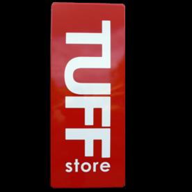 TUFF store logobord ALU-DOR