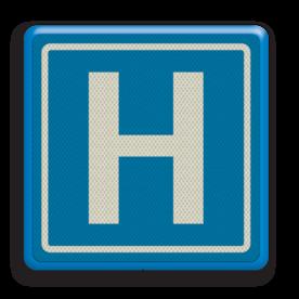 Verkeersbord RVV BW101_hospitaal
