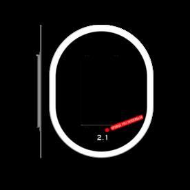 Achtergrondschild 2 lichts verkeerslicht (VKL)