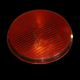 Lens polycarbonaat verkeerslicht (VKL)  rood