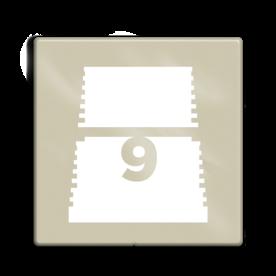 Niveaubord 118x118cm perlbeige   white