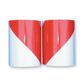 Markeertape reflecterend klasse 2 - 141mm - links/rechts