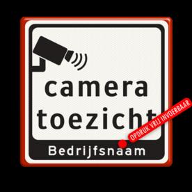 Tekstbord Cameratoezicht   Bedrijfsnaam - BP07