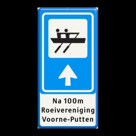 Verkeersbord RVV BW101_ROEI + tekst