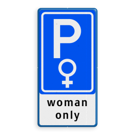 Verkeersbord RVV E08 woman + 3 txt
