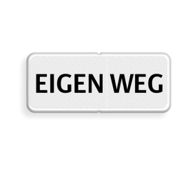 Verkeersbord RVV OBD02 - Onderbord - EIGEN WEG - OBD02