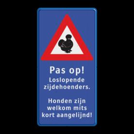 Informatiebord 300x600mm bl/wt/rd Zijdehoenders