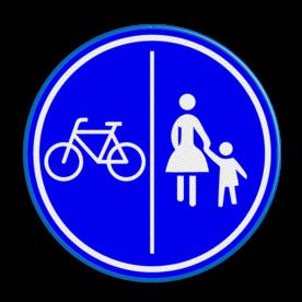 Verkeersbord gecombineerd fiets / voetpad | België
