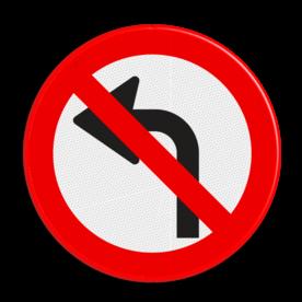Verkeersbord verboden af te slaan -niet officieel-